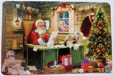 1 Tischset Weihnachten Advent  Weihnachstpost Weihnachstmann Labrador Platzset