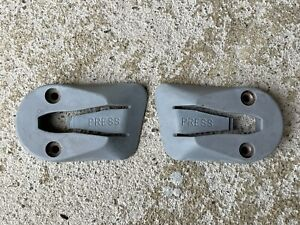 90-93 Mustang Titanium Gray Rear Hatch Cargo Cover Clips Mount Hatchback OEM 1