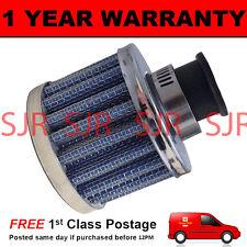 12 Mm De Aire Mini Aceite ventilación válvula Respirador de filtro se adapta a los coches más Azul & Chrome Ronda
