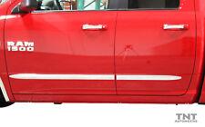 "Carrichs | 2009-2018 Dodge Ram 1500 (Mega-Cab) Chrome BodySide Molding - 2"" wide"