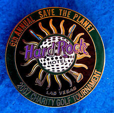6TH las Vegas Hotel Hard Rock Café Charity Golf Torneo Evento No Venta Pin