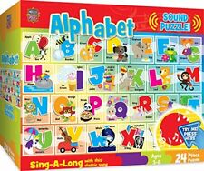 MasterPieces Sing-A-Long Alphabet  24 Piece Kids Puzzle with 1 Minute Sound Chip