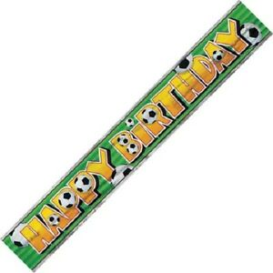 12ft Football Happy Birthday Foil Banner Boys Party Decorations