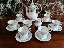 ROYAL ALBERT England BRIGADOON - edles 15 teiliges Kaffeeservice für 6 Personen