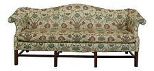 49367Ec: Chippendale Style Quality 8 Legged Mahogany Camelback Sofa