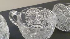 4 Vintage Cut Glass Punch Bowl Cups or Teacups