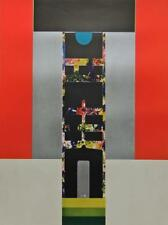 Metallic MidCentury Abstract Graphic 1969 Shiou Ping Liao Silkscreen Print #S316