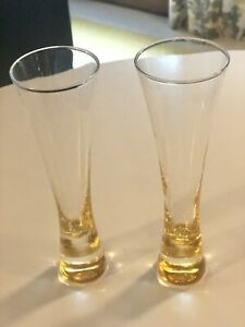 veuve clicquot champagne flute glasses Set Of 2. Glass Not Acrylic-