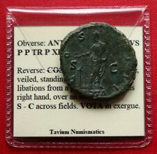 Genuine Roman Coin Antoninus Pius VOTA As Rome 148AD