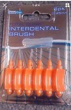 Dental Care Total Clean Interdental Brush 6 Pack 0.45 mm Orange Tooth Brush