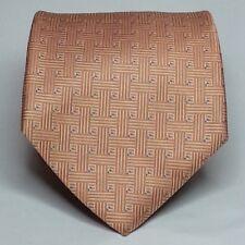 "JONES NEW YORK Men Italian Silk Dress Tie Orange 3.5"" Wide 57"" Long"