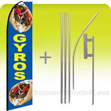 Custom Feather Swooper Sandwich Banner Sign Flag 15' Kit - GYROS