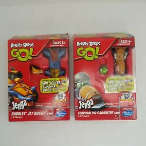Hasbro Gaming Angry Birds Go! Jenga Bubbles' Jet Buggy & Corporal Pig's Roadster