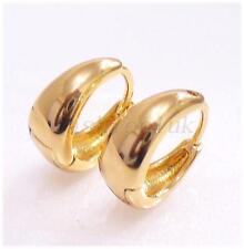fashion1uk Mens Girl 18K Gold Plated Small 12x6mm Creole Huggie Hoop Earrings