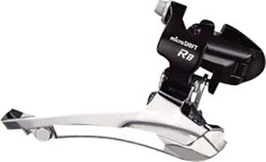 microSHIFT R8 34.9 Clamp On 2x8 Front Derailleur - 31.8 & 28.6 Shims Included