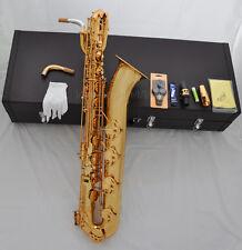Professional Gold Eb Taishan Baritone Sax Brass Saxohone Low A high F# 2 necks