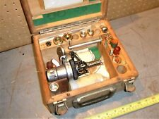 Old Vintage Engine Diesel Gasoline Steam Indicator In Wood Case Maihak w/Acc