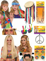 Adults 60s Hippie Accessories Mens Ladies Hippy 70s Fancy Dress Groovy Accessory