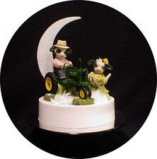 MARY MOO John DEERE Tractor Wedding Cake Topper top country Western barn farm 1