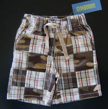 NWT: New 6-12 Month Gymboree Brown Plaid & Camouflage Shorts