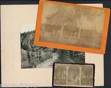 19th C. DEADWOOD SD id'd ORIGINAL PHOTO LOT ~ MEN & WOMEN ~ cdv & cabinet ~ 1887