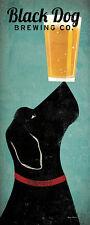 Black Dog Brewing Co Ryan Fowler Beer Sign Dog Lab Animals Print Poster