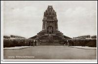Leipzig Sachsen alte Postkarte 1932 gelaufen Partie am Völkerschlacht Denkmal