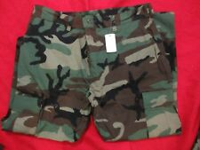 NOS  USGI ISSUE WOODLAND CAMO BDU PANTS 50/50 COTTON NYLON USA MADE RIP STOP