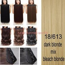 US Fast 100% Long Thick One Piece Full Head Clip in As Human Hair Extensions ncs