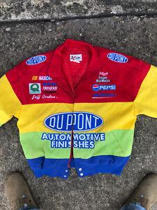 Jeff Gordon Nascar Jacket Large L Vintage Chase Authentics Rainbow Dupont