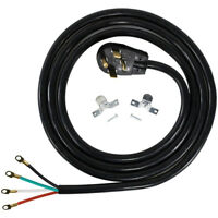Clothes Dryer Power Cord 4 Prong Wire 30 Amp 10' Foot  Heavy Duty
