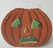 Vintage Halloween Jack-O-Lantern Candy Carry Case Made Of Cardboard With Inserts
