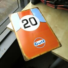 Gulf Oil Racing Gasoline Garage Metal Tin Sign mancave for ford vw porsche fan