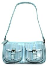 Lee Sands Baby Blue Zip Top And Double Pocket Mini Bag