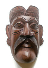 "Elegant Handmade Skyrim Mask Tiki Wood Carving 9"" Living Room Decor, Wall Art"