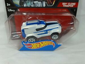 Star Wars Hot Wheels 501st Clone Trooper Die Cast Vehicle Mattel 2014 Aus
