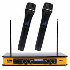 Dual Handheld Wireless Microphone Cordless Receiver for Church, Karaoke w/ Echo