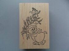 PEDDLER'S PACK RUBBER STAMPS BEAR CHRISTMAS TREE WITH BIRD NEW STAMP