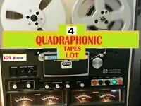 """QUADRAPHONIC Reel to Reel Audio Recordings (4 tapes 7"""" 7.5ips) Lot#122120"""