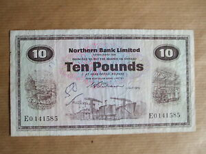 NORTHERN  BANK  £10  NOTE, 1970.