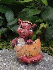 Miniature Dollhouse FAIRY GARDEN ~ Mini Baby Girl Pink Dragon Figurine ~ NEW