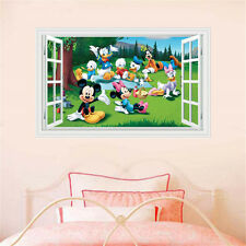 Removable Mickey Minnie Mouse 3D Window Kids Wall Sticker Art Decal Room Decor