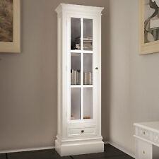 White Cabinet Storage Cupboard Display Unit Bookcase Shelf Wooden