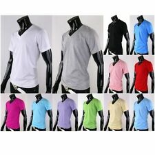 Cotton V Neck Fitted Regular Size T-Shirts for Men