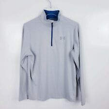 Under Armour Men's Long Sleeve Half-Zip Pullover Sweatshirt Fitted Gray Size Sm