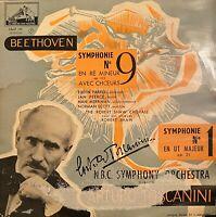 RARE CLASSIC LP TOSCANINI SYMPHONY 9 BEETHOVEN ORIGINAL FRENCH VSM FALP 191
