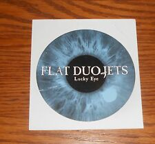 "Flat Duo-Jets Lucky Eye Sticker Circle 1998 Promo 4"" Psychobilly RARE"