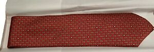 Hermes NEW Whimsical Rabbit Red Tie 7900 MA  -  100% Silk