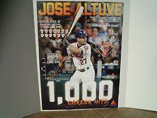 Houston Astros Limited Edition Jose Altuve 1000th Hit Poster 18x24 SGA (2016)