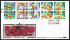 GB 1989 Benham Greetings stamps First Day Cover Flowery Fields Hyde postmark